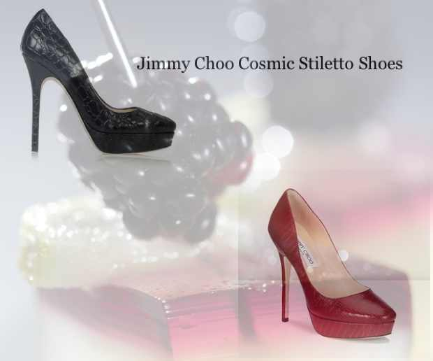 Jimmy Choo red and black