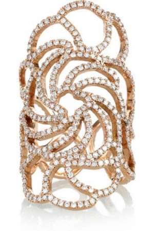 Ileana Makri lace gold ring