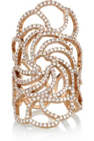 Ileana Makri lace gold ring