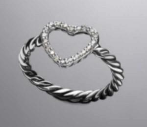 David Yurman diamond  heart ring