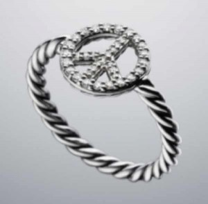 David Yurman ring diamonds