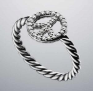 David Yurman ring diamonds