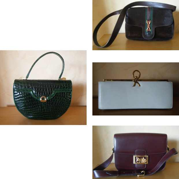 Niki Papaioannou Vintage structured handbags