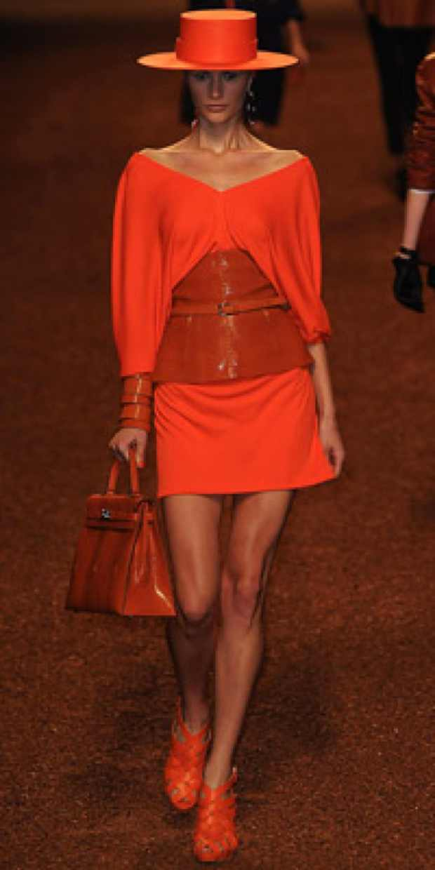 Hermes Red handbag red outfit