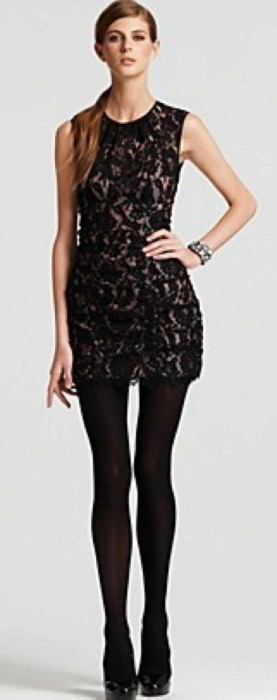 Nanette Nepore Lace black dress