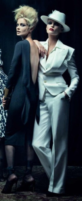 Tom Ford Black dress White androgynous look