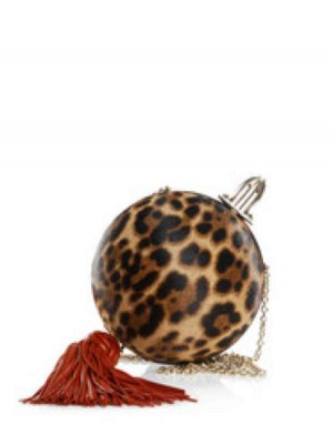 Animal print sphere bag