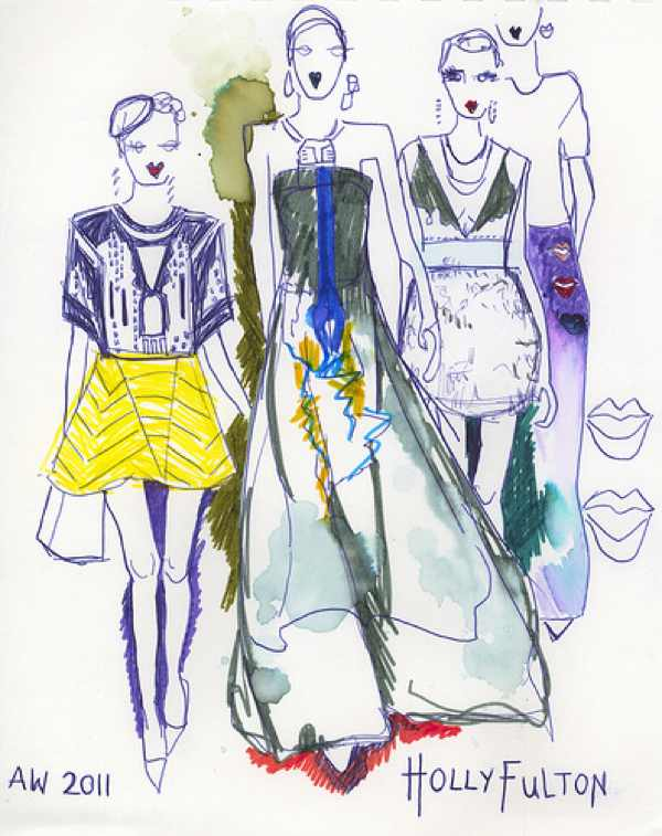 Holly Fulton illustration fashion