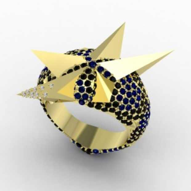 Jasmine Alexander ring blue gold