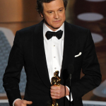 Colin Firth with Oscar