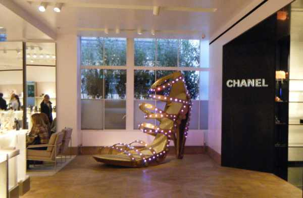 Selfridges giant shoe