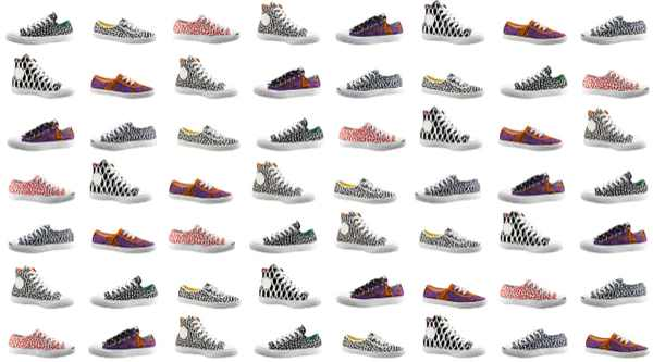 Marimekko Converse sneaker black and white and colored