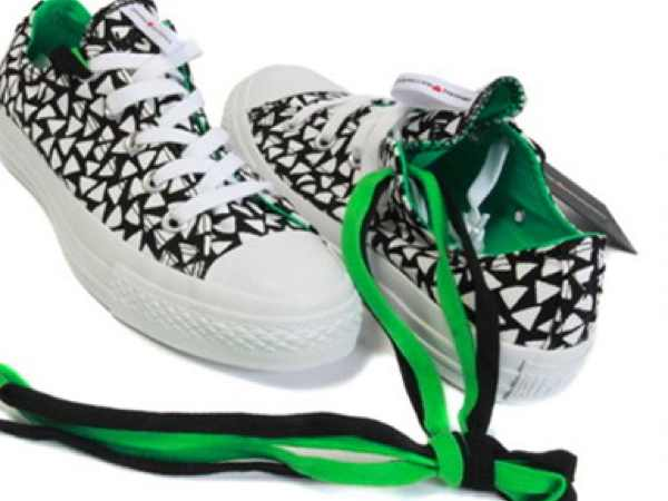 Marimekko Converse sneaker black and white green lace