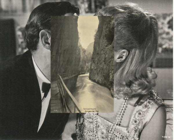 John Stezaker Collage, 2007 shown at Whitechapel Gallery