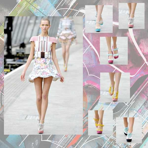 Mary Katrantzou collection collage shoes