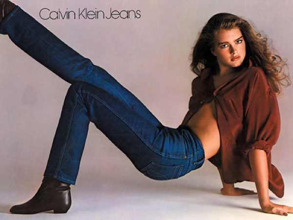 Brooke Shields in her Calvin Klein Jeans
