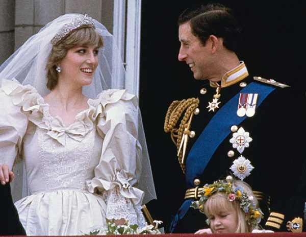 Princess Diane wedding dress and Prince Charles