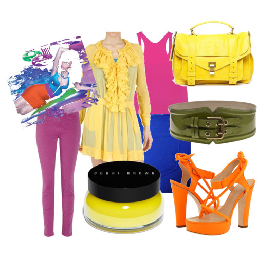 Bright colored garments fashion