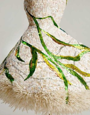 Marble Dress Sculpture 'la corrente' by Texas artist Julie Richey