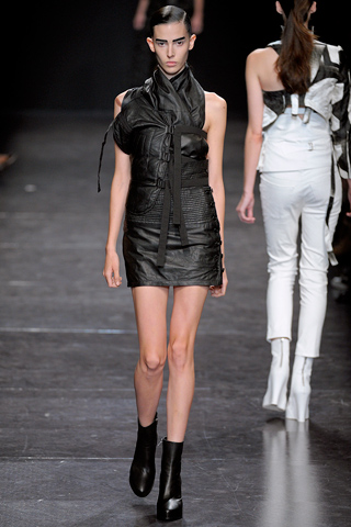 Ann Demeulemeester leather dress