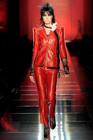 Jean Paul Gaultier Red leather suit