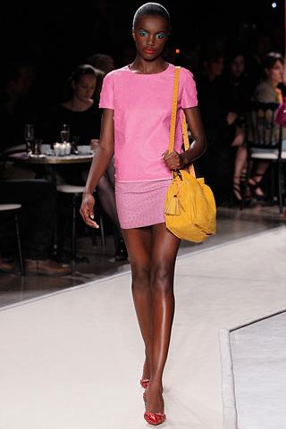 Lowe Pink Leather Dress