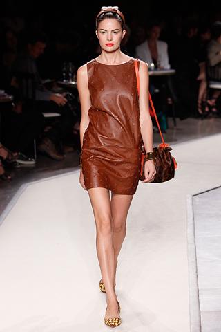 Lowe Tan leather dress