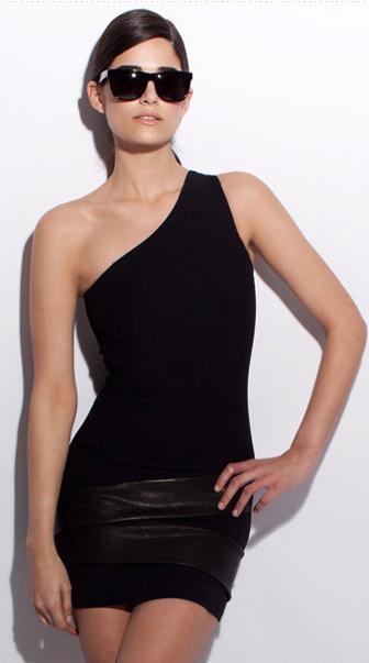 Neil Barrett leather trimmed dress