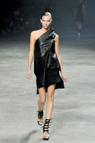Rick Owens Black Leather dress