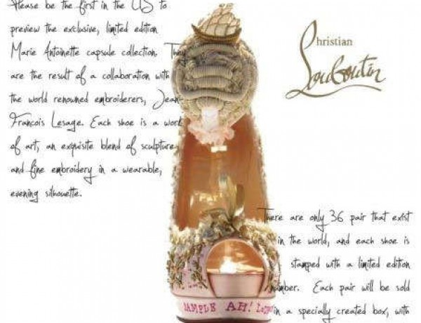 Marie Antoinette Shoe by Christian Louboutin
