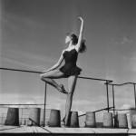 Briggite Bardot ballet dancing on a roof top in Paris