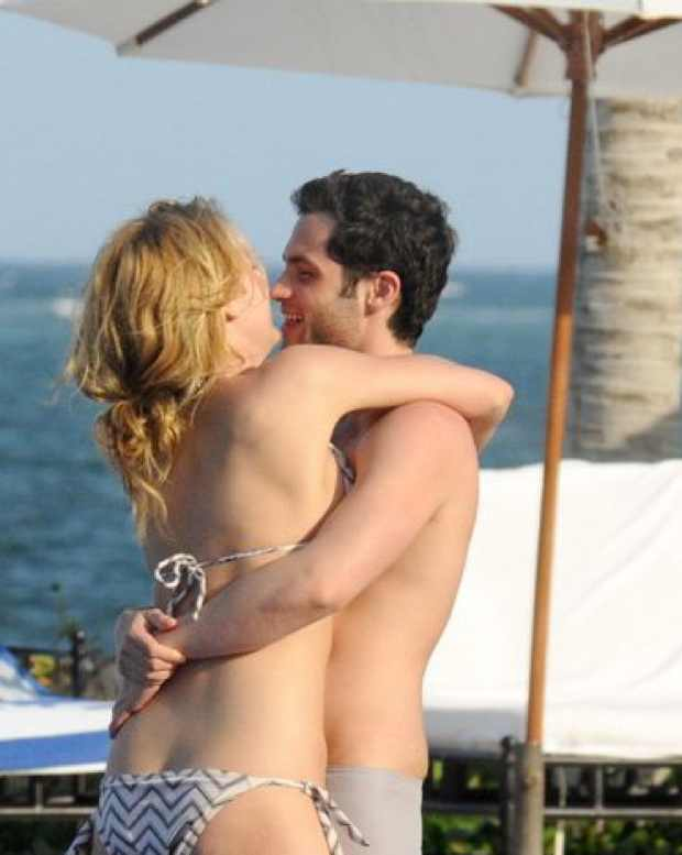 Blake Lively swimsuit hugging