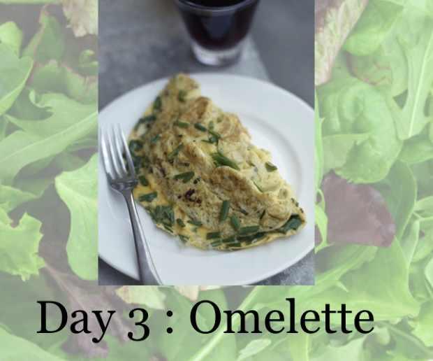 Scrambled eggs omelette
