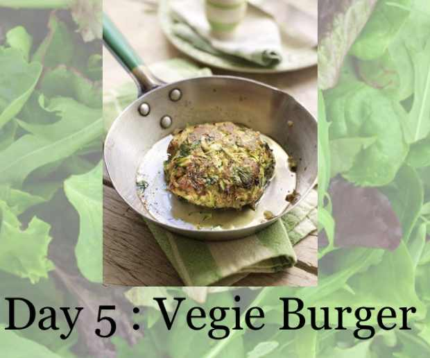 Vegetarian Burger in a lettuce leaf wrap