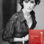 Inès de la Fressange with her Parisian Chic book