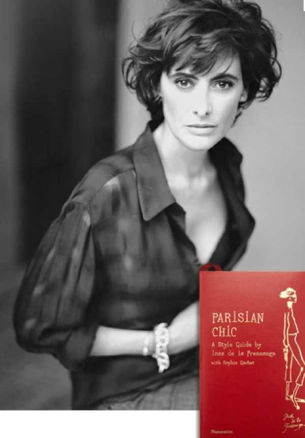 Inès de la Fressange with her Parisian Chic book
