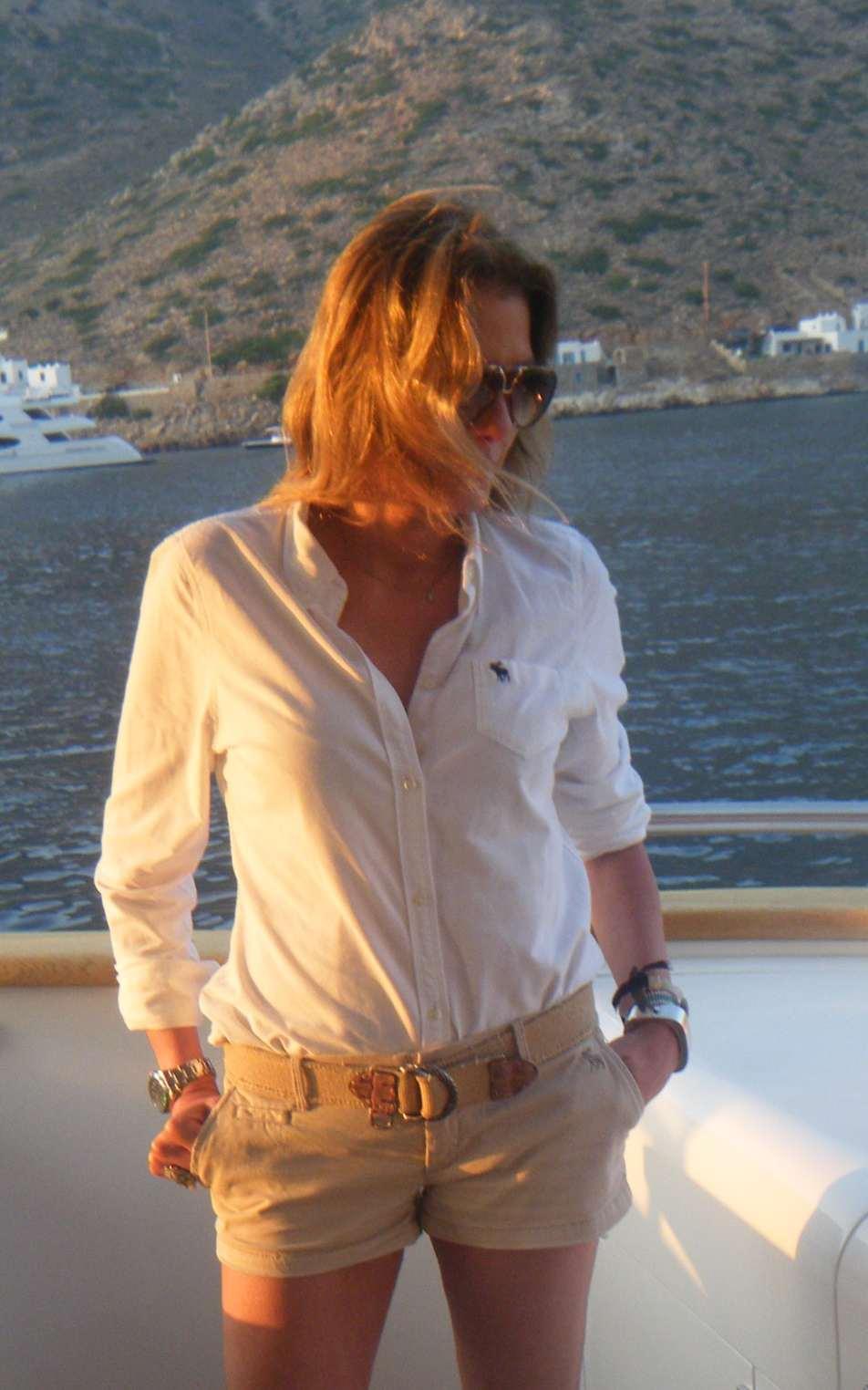 Nina Papaioannou Tom Ford Aviator sunglasses