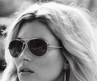 Kate Moss Aviator sunglasses