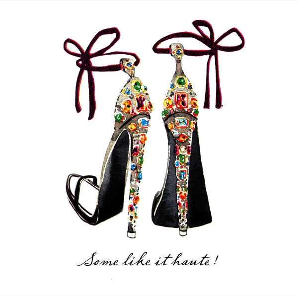 Embellished sandals illustration