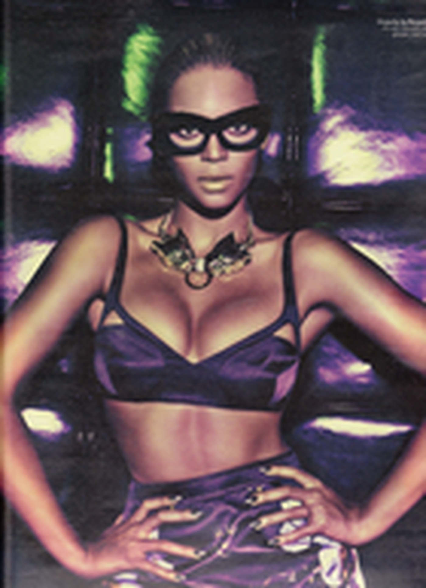 Beyonce sexy in glasses and underwear