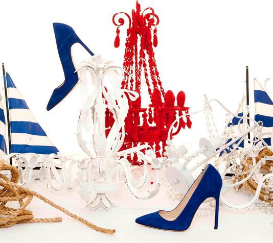 Manolo Blahnik Blue Suede stiletto shoes