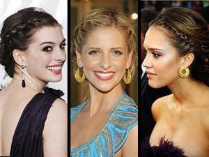 Celebrity... French side braids