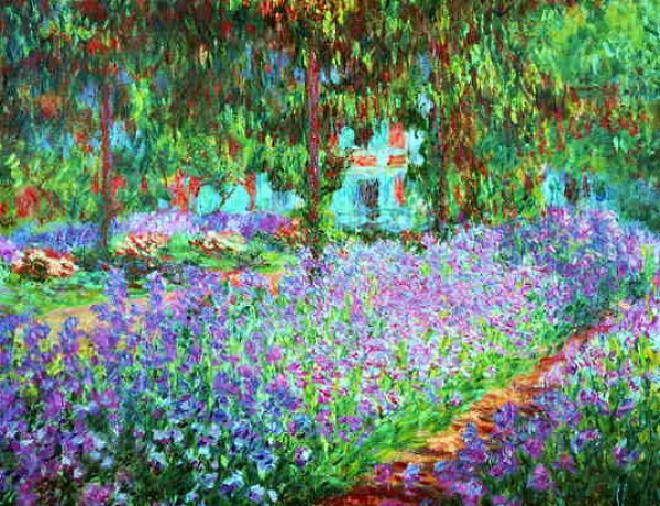 Garden at Giverny by Claude Monet