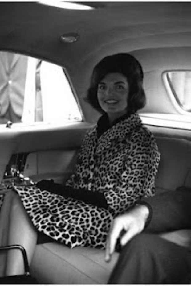 Fashion Icon Jacky Kennedy - Onassis in a Leopard fur Coat
