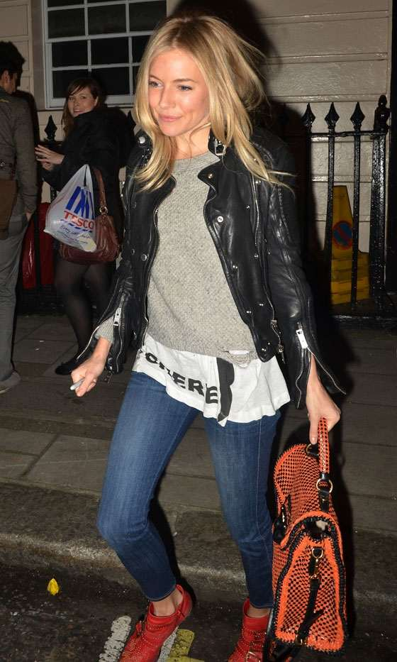 Sienna Miller Rocks Another Impressive Casual Look As She Leaves The Haymarket Theatre, 2011