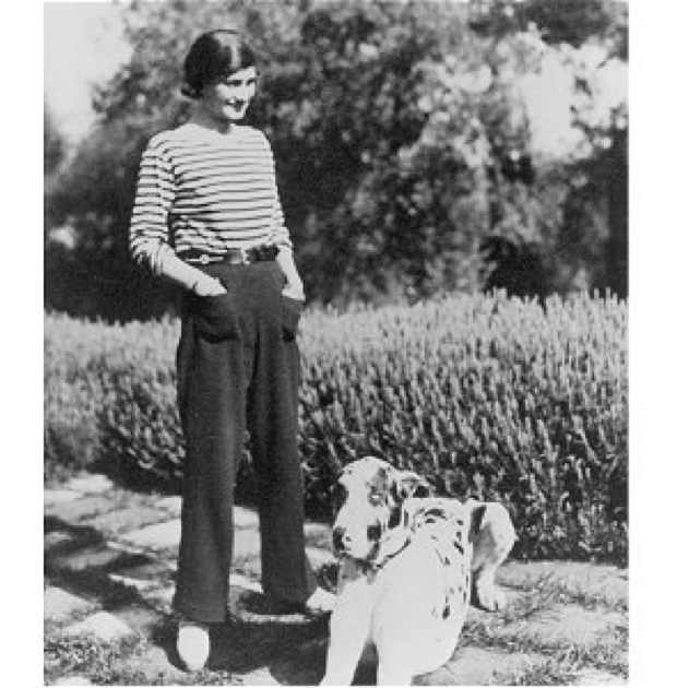 Coco Chanel with dog