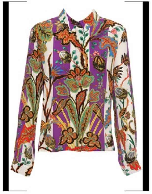 1-balenciaga_Silk shirt with paisley-print