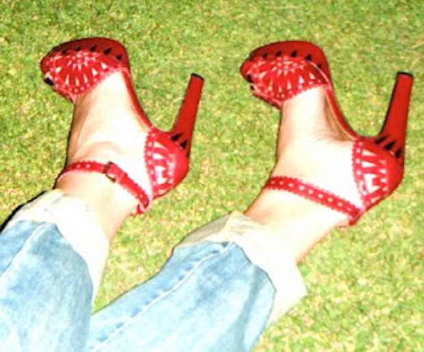 Alaia Sky high Red Sandals