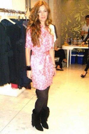 Isabel Marant pink dress Anna Giannara