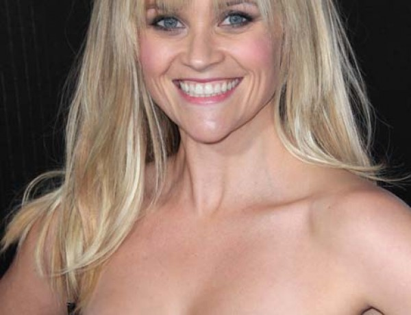 Reese Witherspoon, fringes, hair and make up, 2012